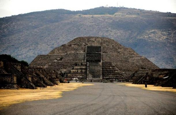 The Pyramid of the Moon where the new tunnel and chamber were discovered.
