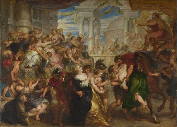 The Rape of the Sabine Women by Peter Paul Rubens (Public domain)