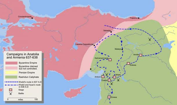 The Rashidun Caliphate Campaigns 637 – 638 AD (CC BY-SA 3.0)