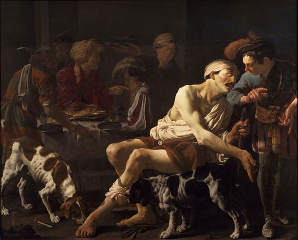 The Rich Man and the Poor Lazarus (public domain)