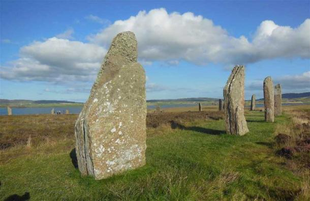 The Ring of Brodgar stone circle where a 10,000-year-old Mesolithic arrowhead bearing the Swiderian retouch to its tip was found (Image: © Andrew Collins). It matches another example found on the island of Stronsay.