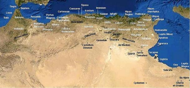 The Roman cities across North Africa ( Public Domain )