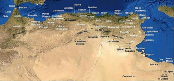 The Roman cities in North Africa (Public Domain)