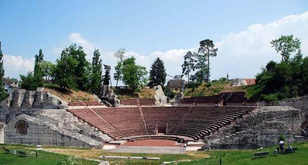 The Roman theater of Augusta Raurica. (CC BY-SA 3.0)