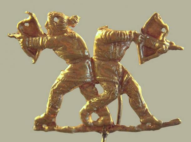 The Sarmatians were a powerful tribal confederation from the Scythian group of peoples. This representation of Scythians shooting with bows was found in the ancient Greek city of Panticapaeum, now in modern Ukraine