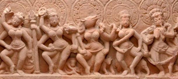 The Seven Mother Goddesses, 9th-century Madhya Pradeshj, India. (Ms Sarah Welsh/CC BY-SA 4.0)