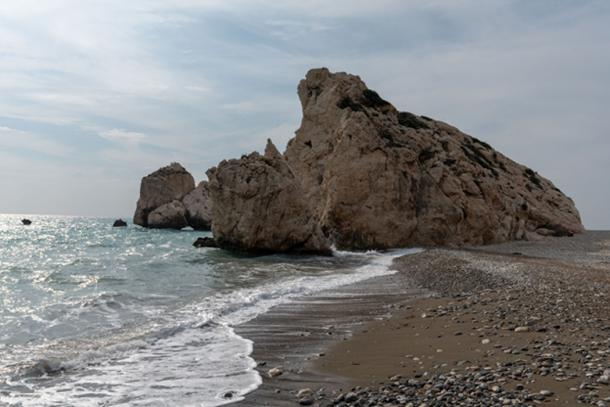 The Shore Line at Aphrodite Rock – the rock is a steep vertical of column of rocks. (Ioannis Syrigos)