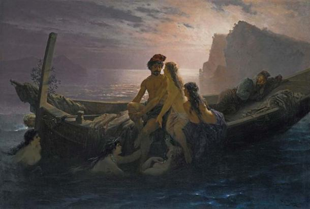 The Sirens by Wilhelm Kray. (Public Domain)