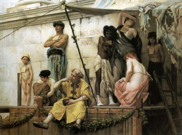 The Slave Market by Gustave Boulanger's 1886.