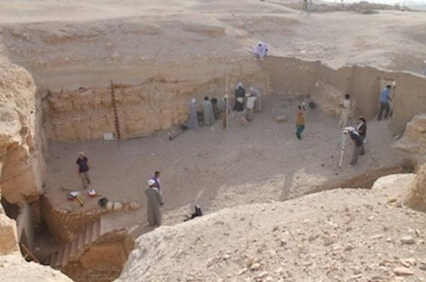 The South Asasif Conversation Project area near where the Badi-Bastet tomb was discovered