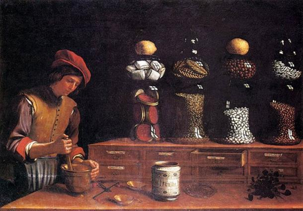 'The Spice Shop' (1637) by Paolo Antonio Berbieri. (Public Domain)