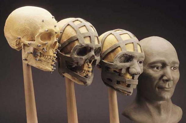 The Spirit Cave mummy cranial reconstruction. ( friendsofpast.org)