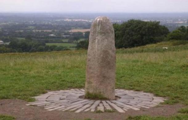 The Stone of Destiny, Lia Fáil, found on the Hill of Tara in Ireland.