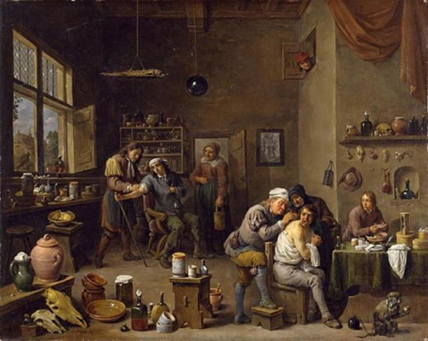 'The Surgeon' by David Teniers the Younger, 1670s. (Public Domain)