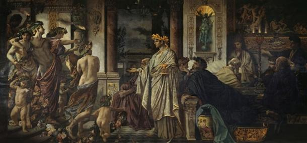 The Symposium (Second Version) by Anselm Feuerbach  (1829–1880)(Public Domain)