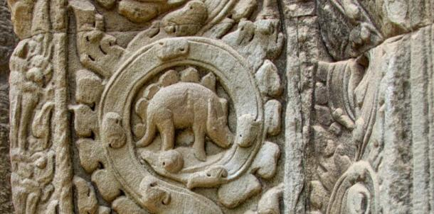 The Ta Prohm 'dinosaur'.