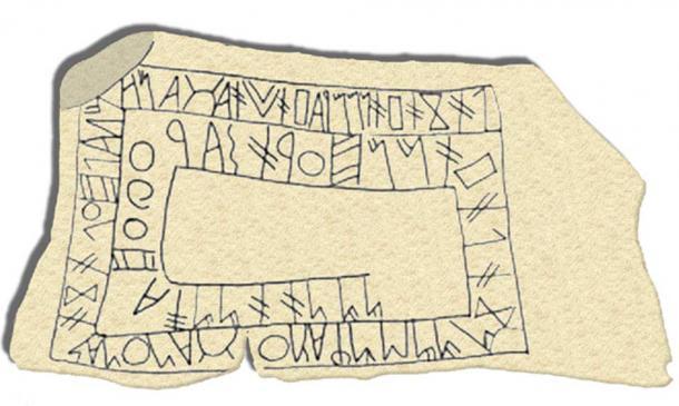 The Tartessian Fonte Velha inscription found in in Bensafrim, Lagos, Southern Portugal. (Public Domain)