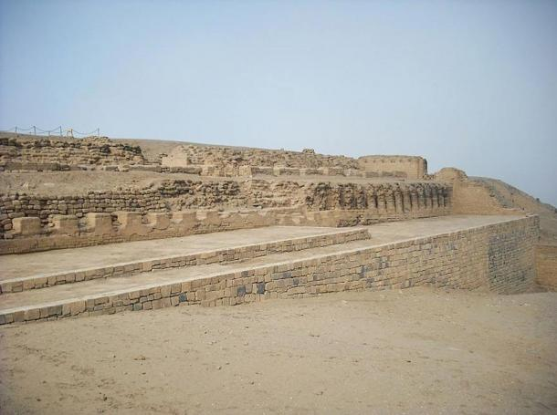 The Templo del Sol (Temple of the Sun) at Pachacamac, Lima, Peru.