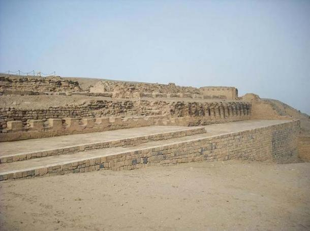 The Templo del Sol (Temple of the Sun) at Pachacamac, Lima, Peru.