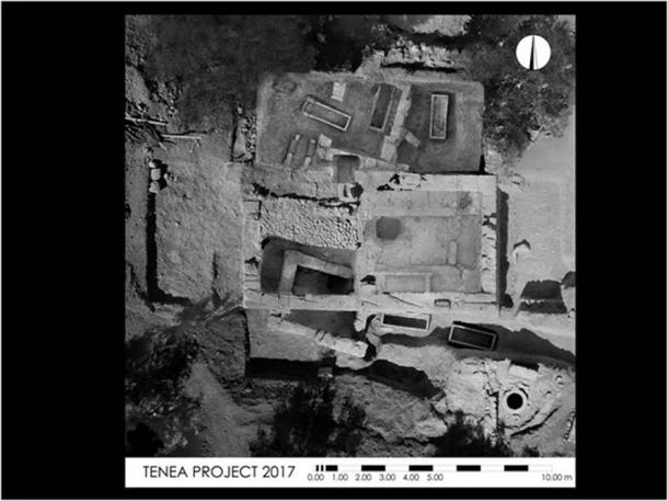 The Tenea dig site of 2017. (Image: Greek Ministry of Antiquities)