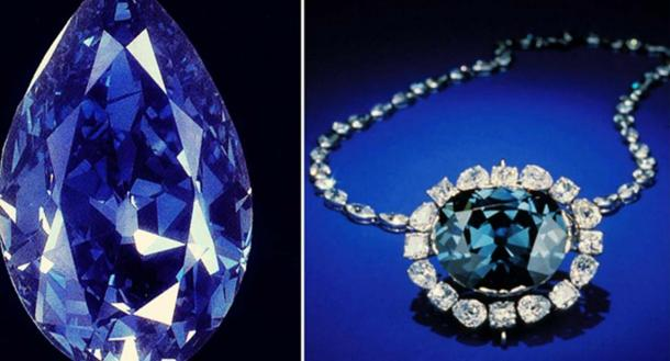 The Tereshchenko and Hope Diamonds, two rare, blue, and world famous diamonds. (CC BY-SA 4.0)