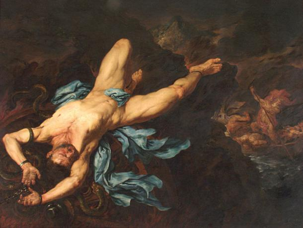 The Torture of Ixion by Giovan Battista Langetti  (1635–1676) Museo de Arte de Ponce (Public Domain)