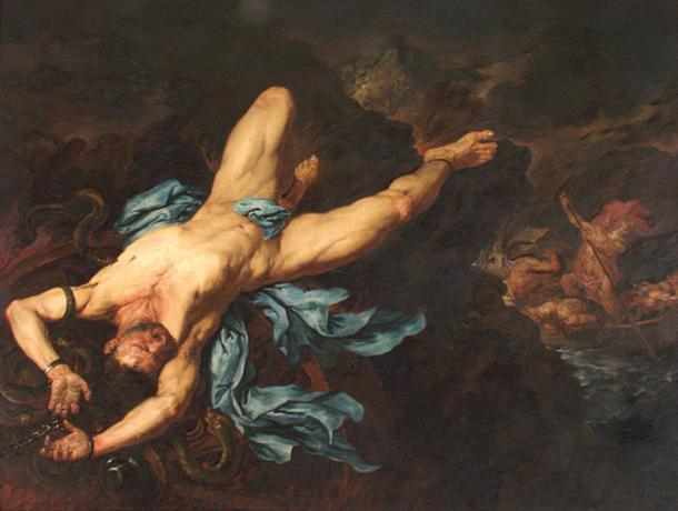 The Torture of Ixion by Giovan Battista Langetti  (1635–1676) Museo de Arte de Ponce (Public Domain)