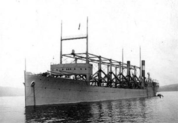 The USS Cyclops (one of the ships that supposedly disappeared in the Bermuda Triangle) in a 1911 photograph.