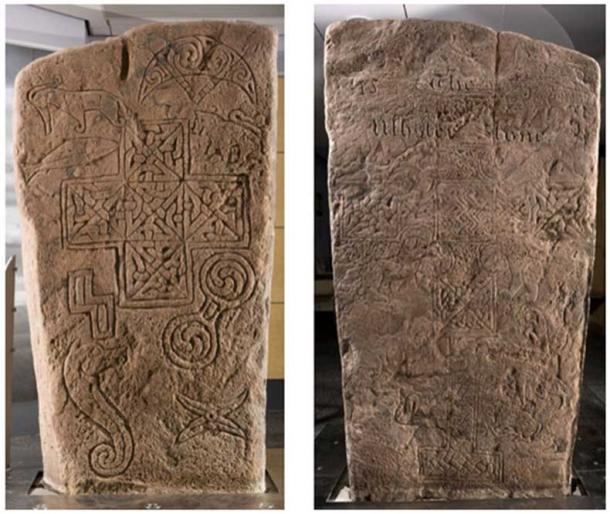 The Ulbster Stone, partially incised and partially in relief. (Reproduced courtesy of Caithness Horizons Museum and Art Gallery, Thurso)