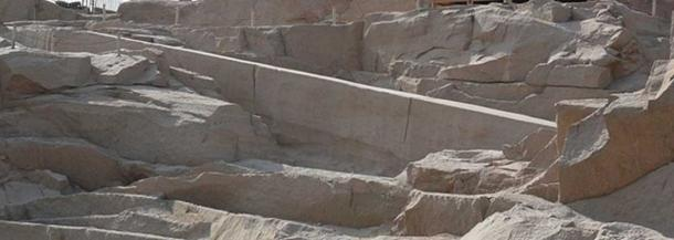 The Unfinished Obelisk, the largest known ancient obelisk, located in the northern region of the stone quarries of ancient Egypt in Aswan (