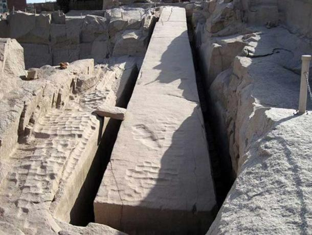 The Unfinished Obelisk shows how the stone was carved out of the bedrock