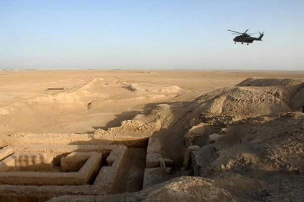 The Uruk archaeological site in Mesopotamia.