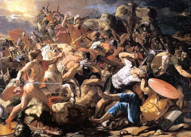 """The Victory of Joshua over the Amorites"", painting circa 1625-1626."