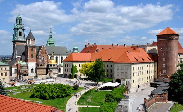 The Wawel Castle and Cathedral in Krakow, Poland.
