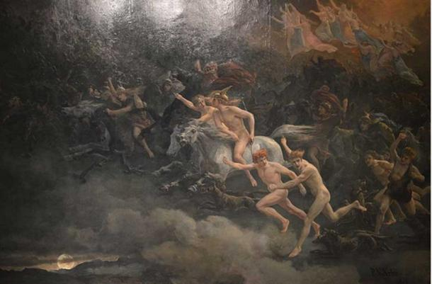 The Wild Hunt of Odin by Peter Nicolai Arbo (1868).