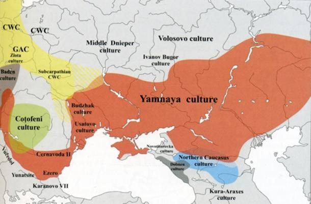 The Yamnaya migrated from modern-day western Russia or the Ukraine and into the plains of central Europe. (Бутывский Дмитрий / CC BY-SA 4.0)