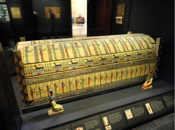 The ancient Egyptian outer coffin of Meret-it-es