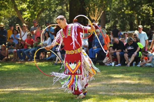 The annual Ocmulgee Indian Celebration brings together craftsmen, dancers, storytellers, and living history demonstrators to celebrate and share their heritage with thousands of visitors. (NPS Photo)