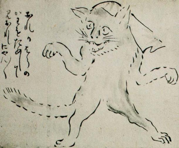 "The bakeneko (""changed cat"") is a type of Japanese yōkai, or supernatural creature."