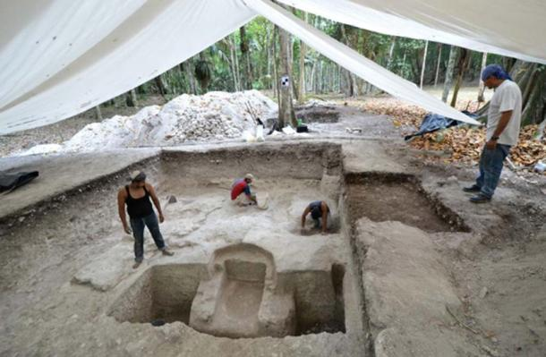 The bath was initially thought to be a tomb, until the complete system was discovered. (Image: W Koszkul / PAP)