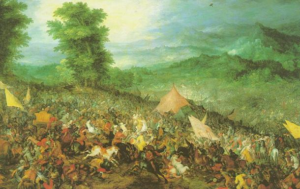 The battle of Issus as painted by Jan Brueghel the Elder. (Public Domain)