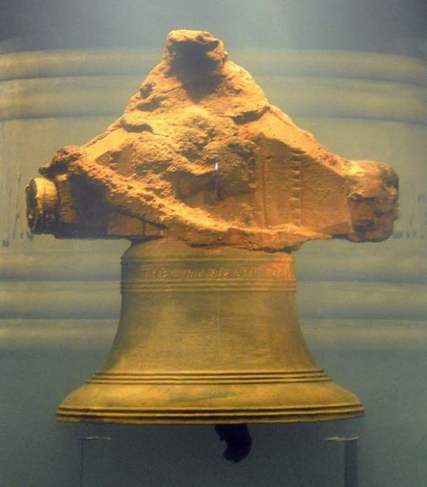 "The bell, inscribed, ""THE WHYDAH GALLEY 1716"""