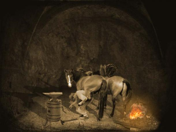 The blacksmith with horses of the Knights of Blanik. (Andurb's Blog)