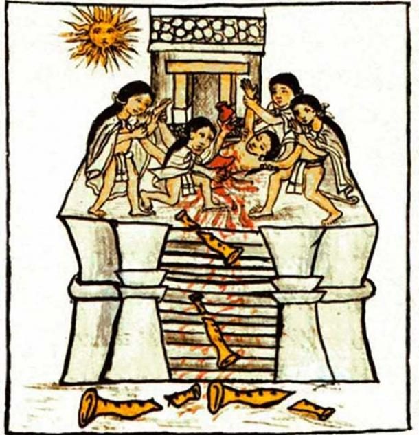 The body of a young man offered to Tezcatlipoca Huitzilopochtli found at the Aztec Royal Burial site. (PauloCalvo / Public Domain)