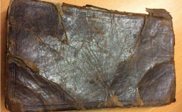 The book dated back to 1720 is leather bound. (Image: Hanson's Auctioneers)