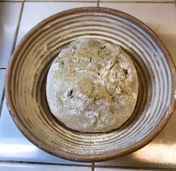 The bread was divided into wicker baskets for baking as this is how bread was shaped in Ancient Egypt. (Seamus Blackley)