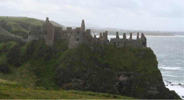 The castle overlooks the Atlantic Ocean in the far north of the Irish island