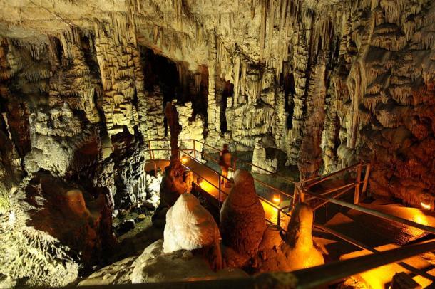 The cave of Dikteon (Psychro cave), Crete, 2009.