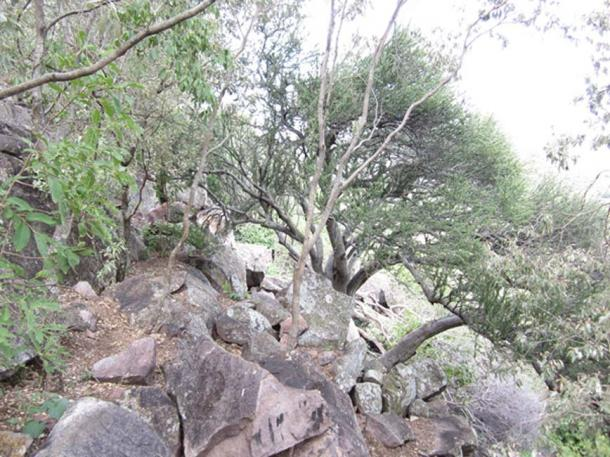 The caves are in a rocky and hilly part of Botswana. (mmakatey)