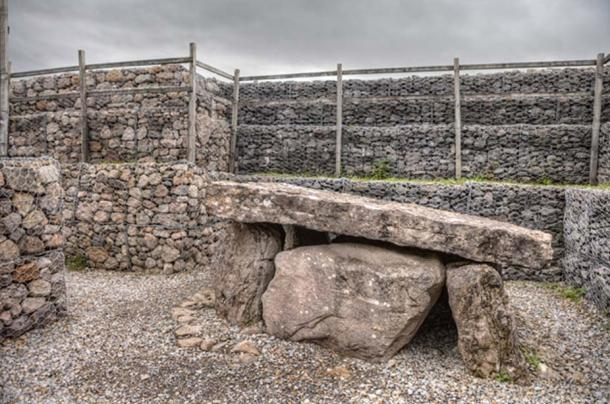 The central burial chamber inside the Listoghil. (Image: Ioannis Syrigos)